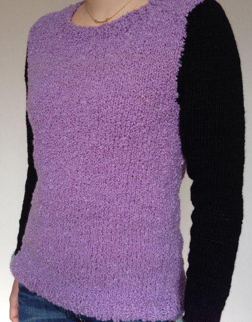 ひつじのようなモコモコした質感のセーター紫部分/ウール100% 袖/ウール71% ナイロン29%身幅43cm 丈58.5cm 袖丈57.5cm ハンドメイド、手作り、手仕事品の通販・販売・購入ならCreema。