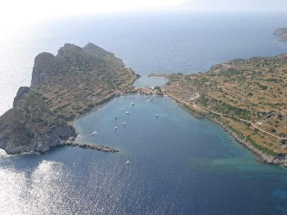 Ancient Knidos aerial in the Datca peninsula