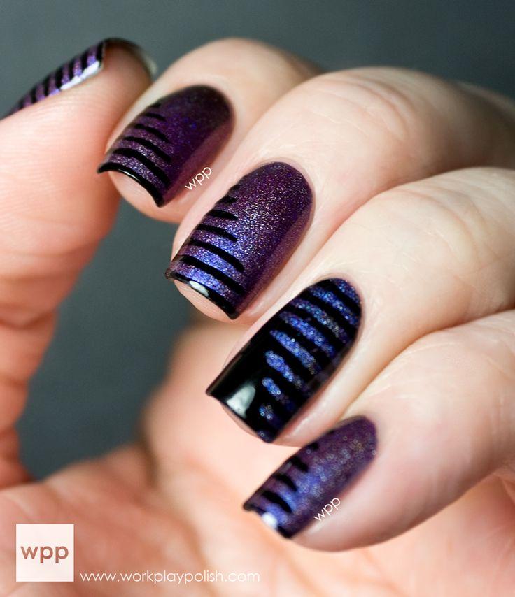 stripes - nail design