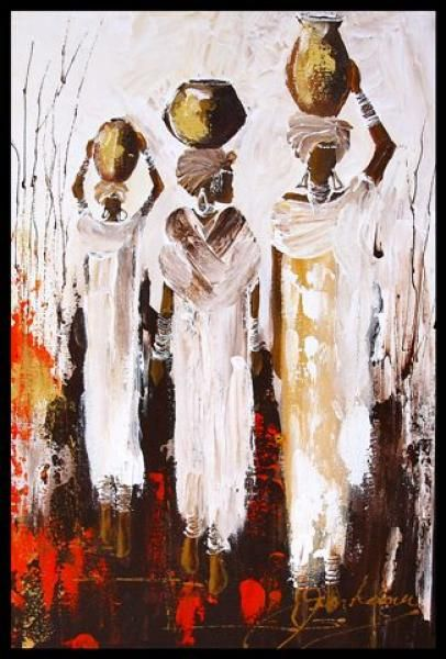 African Artwork, African Art Paintings, Abstract Paintings, Africa Painting, Africa Art, Peruvian Art, Spiritual Paintings, Beginner Art, Beauty In Art