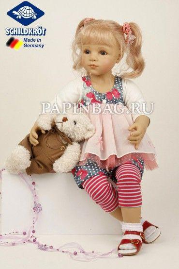 """SCHILDKROET-Puppen Кукла """"Alina"""" с медвежонком, 64 см, Limited Edition, дизайнер Sieglinde Frieske"""