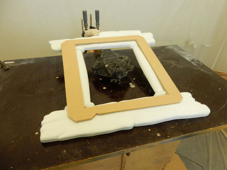 We made a jig so that we could machine out the back - a place for the mirror to go into...