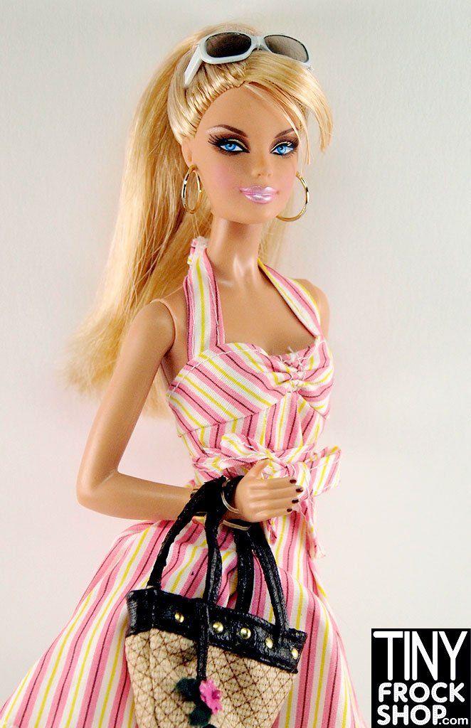 Tiny Frock Shop Barbie Top Model Resort Blonde Pre Loved Dressed Doll Barbie Top Fashion Dolls Barbie Hair