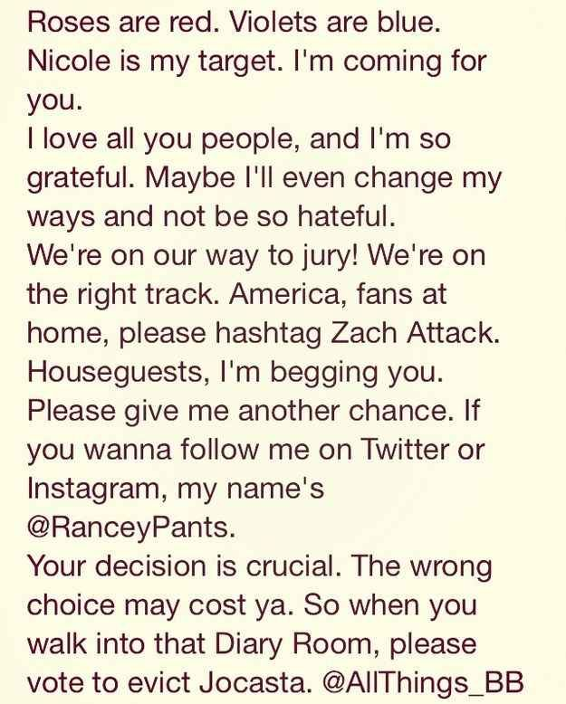 And wrote this EPIC eviction speech! | Why Zach Rance Is Your New Obsession