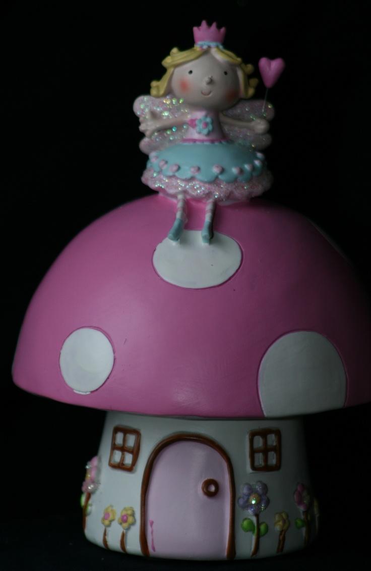 Toadstool Fairy Money Box