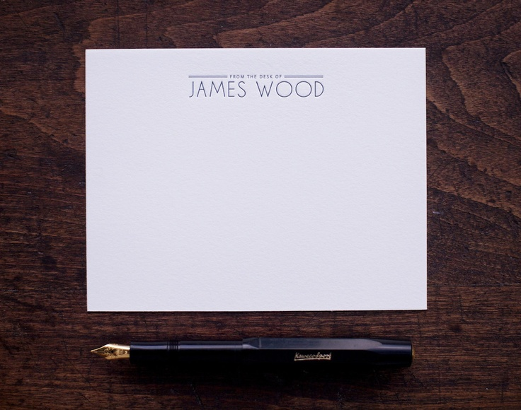 Carriage House Design Co. Mens stationery