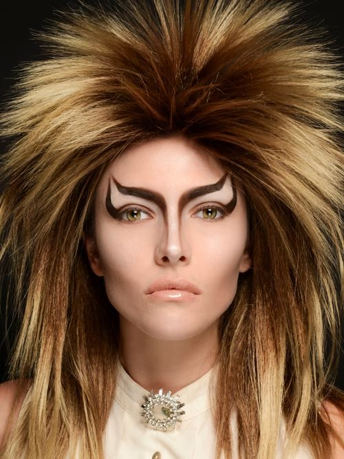 Makeup by Clare Anderson   Reminds me of David Bowie in the movie Labyrinth