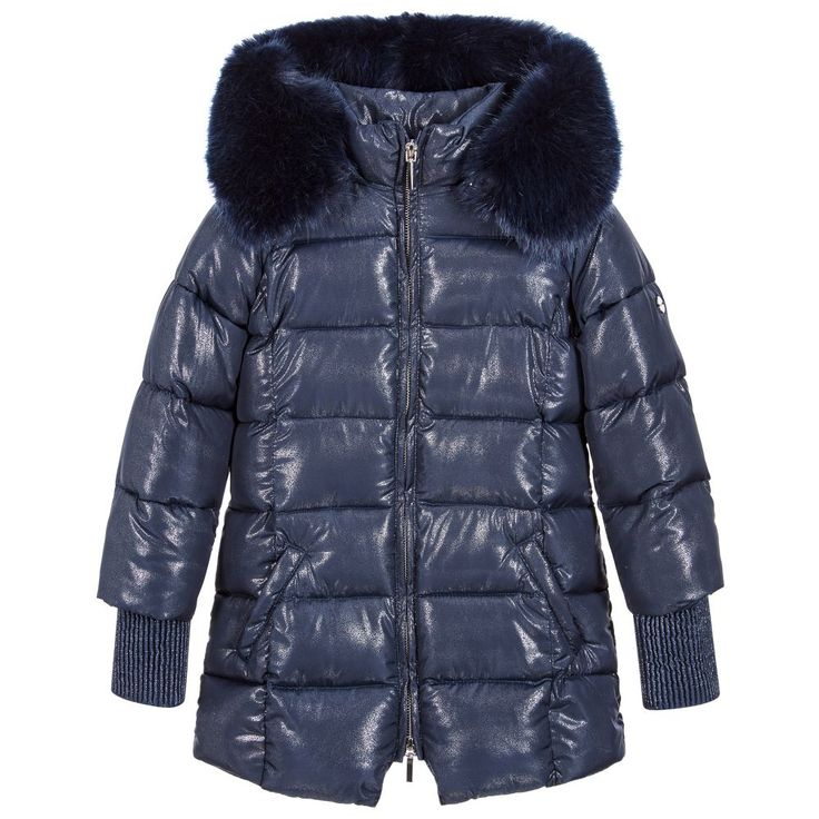 http://www.childrensalon.com/#a_aid=51f456f914eb5 Brighten up any dull day in this sparkly coat byMayoral. Made in a padded polyester, with long-length ribbed cuffs,this coat will help keep girls comfortable in cooler months. The detachable hood is lined in synthetic fur for a cosy, fashion-forward statement look.