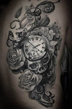 clock tattoos for women - Google Search