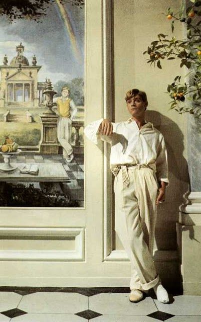 """Anthony Andrews as Sebastian Flyte IN """"Brideshead Revisited"""" 1981 a British television serial produced by Granada Television for broadcast by the ITV network."""