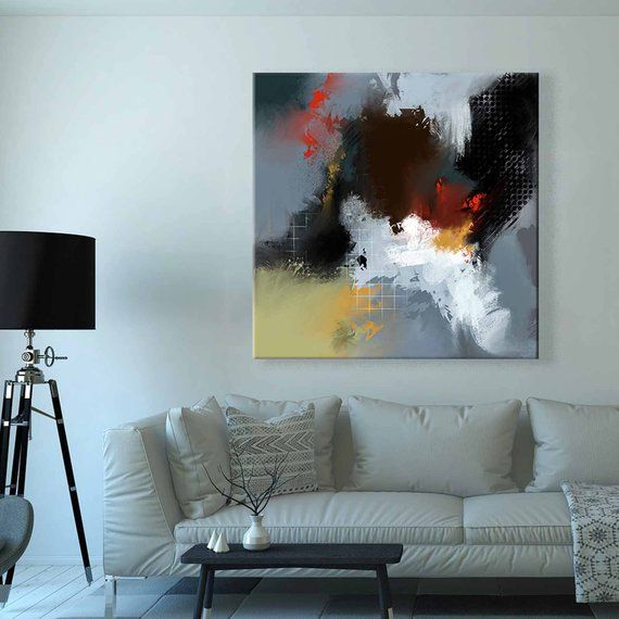 Large Square Canvas Abstract Painting 36x36 Inches Instant Download Printable Digital Wall A Abstract Art Painting Abstract Canvas Painting Abstract Painting