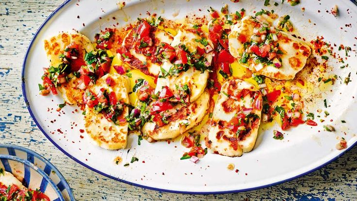 Given the close proximity to Greece, it should come as no surprise that haloumi is eaten as a meze dish on the western coast of Turkey and in the modern restaurants of Istanbul. It is often served pan-fried with a tangy tomato salsa. This light and refreshing dish is perfect for a summer's evening. The haloumi must be served straight out of the pan so that it is still hot and oozy when you bite into it. Make sure you have your salsa ready first, so that you can pour it straight over the…