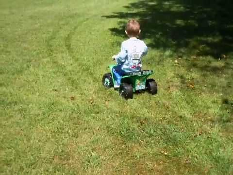 Gus is riding his 'slightly modified' power wheels quad while Henry is still learning the ins and outs of steering on his #powerwheels
