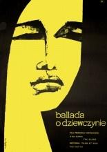 """Polish Movie Poster by Ewa Frysztak, 1965, """"Ballada o Dziewczynie"""" directed by Phan Ky Nam, Hanoi Film."""