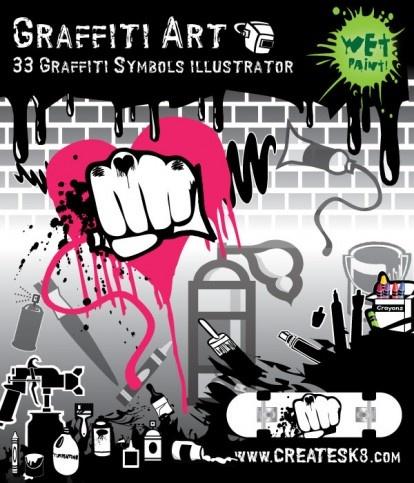 vector spray paint graffiti art