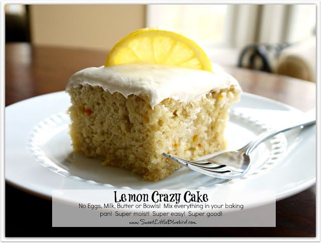 Grandma's Prized Lemon Crazy Cake | One of my favorite lemon desserts! This easy cake recipe is made without eggs, but is super moist and delicious (not to mention budget friendly)!