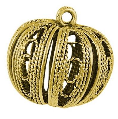 Golden Pumpkin Brass Pendants