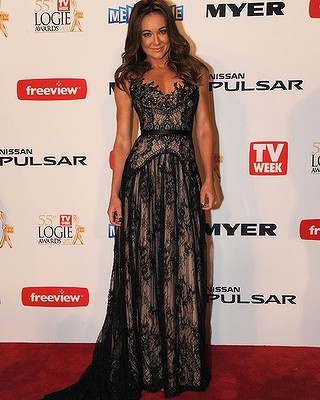 Michelle Bridges arriving to the Logie Awards. LOVE the dress!