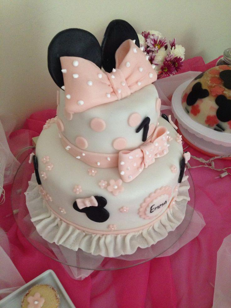 Torta minnie rosado