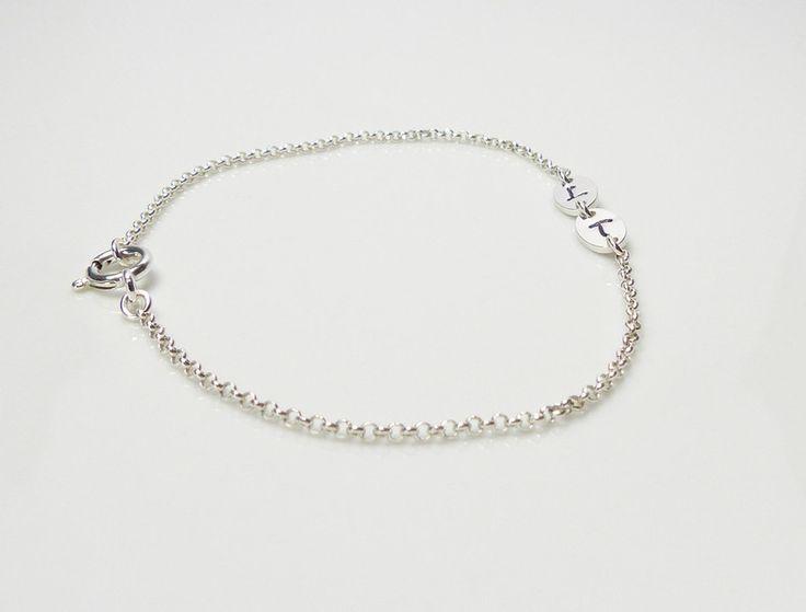 925 Silberarmband ♥ Initialien ♥ handgestempelt von Andressâ auf DaWanda.com