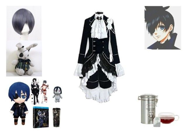 ciel phantomehive by mayleneholm on Polyvore featuring Coshome, Ciel, Cartwright & Butler and Sebastian Professional