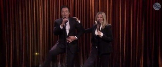 Barbra Streisand Sings Incredible Medley With Jimmy Fallon In 'Tonight Show' Return