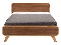 Fonteyn 160 x 200 cm Euro kingsize bed, eiken- en walnootfineer