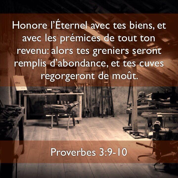 Honore l'Éternel avec tes biens | 1001 versets