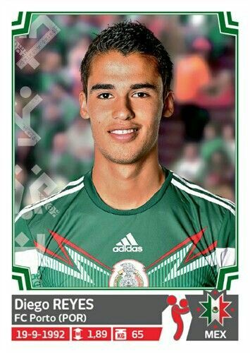 Diego Reyes of Mexico. 2015 Copa America card.