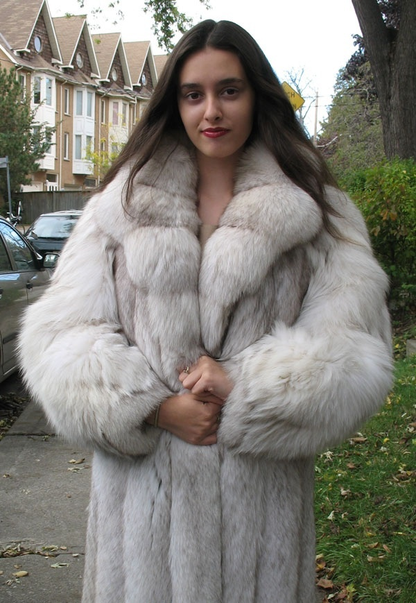 blue fox fur coat | Full Length Fur - One Day | Pinterest | Coats