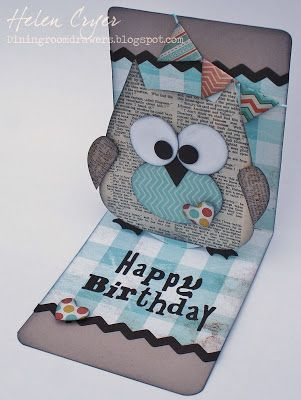 The Dining Room Drawers: Super-quick Sizzix Owl Pop 'n Cuts Card