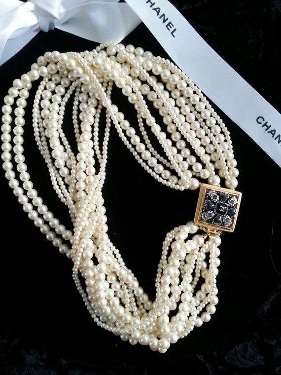 Authentic Chanel CC Gripoix Button Necklace ArmCandy DesignsbyZ Contact zumphlette@aol. com