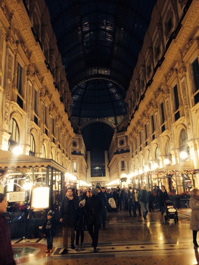 Amazing shopping centre in Milan, Italy