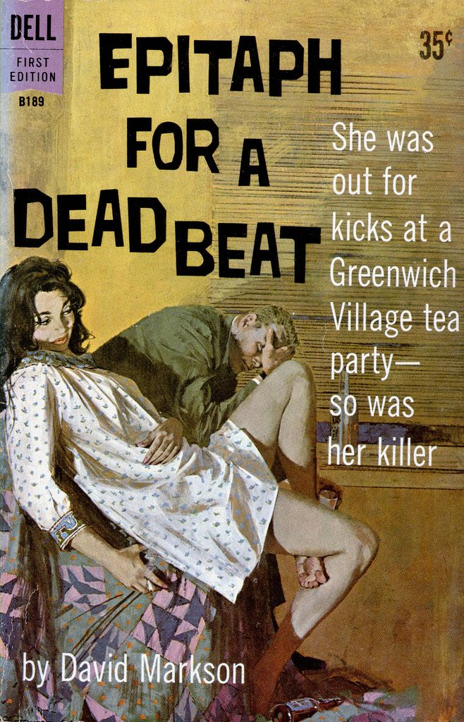 Dell B 189_Epitaph for a Dead Beat_1961_Robert McGinnis