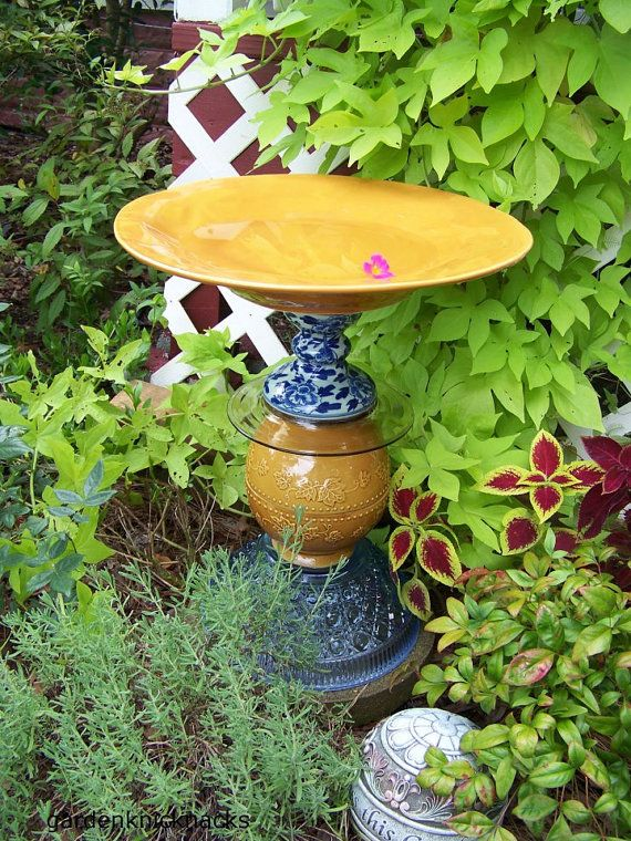 A little bit of Italy Birdbath / Table by Gardenknicknacks on Etsy, $60.00