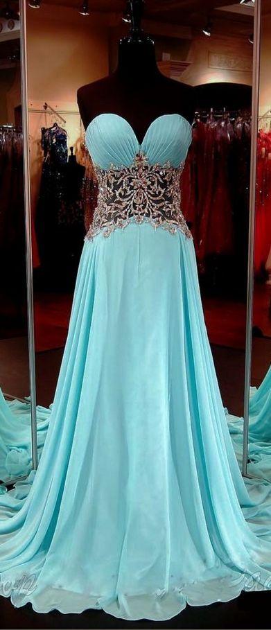 Long Prom Dresses,A line Prom Dress,Blue Prom Dresses,Formal