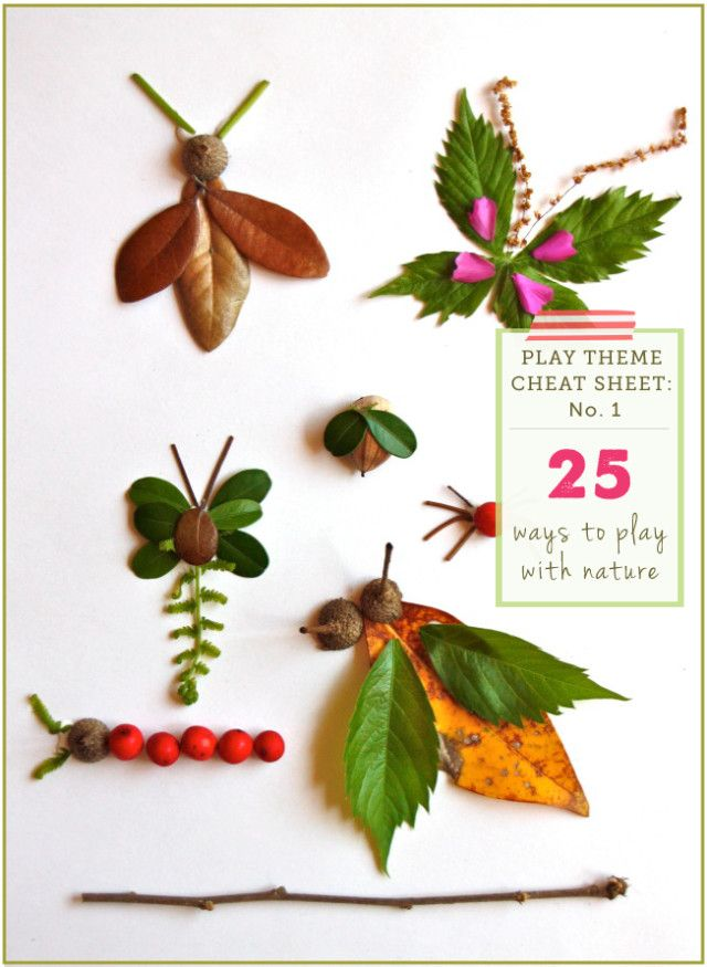 Play Themes to explore over several days and weeks with the kids - #1: Nature