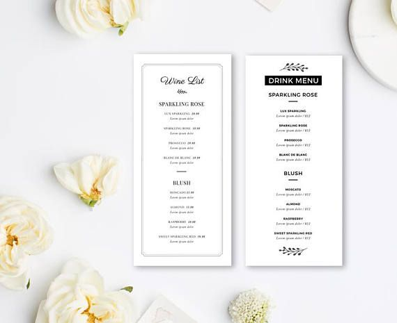 25+ beste ideeën over Wedding menu template op Pinterest - ms word menu template