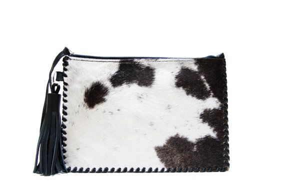 Tembo Cowhide leather clutch bag