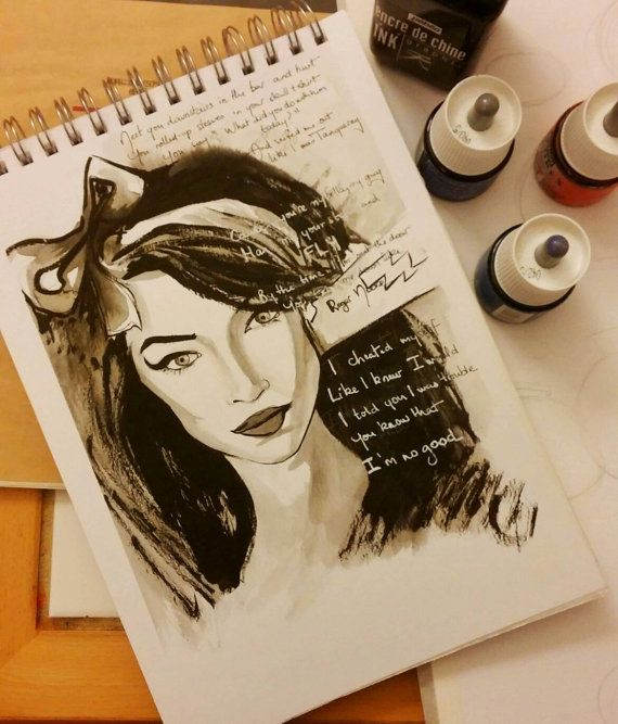 Amy Winehouse / You know I'm not good / art par WildLittleMango