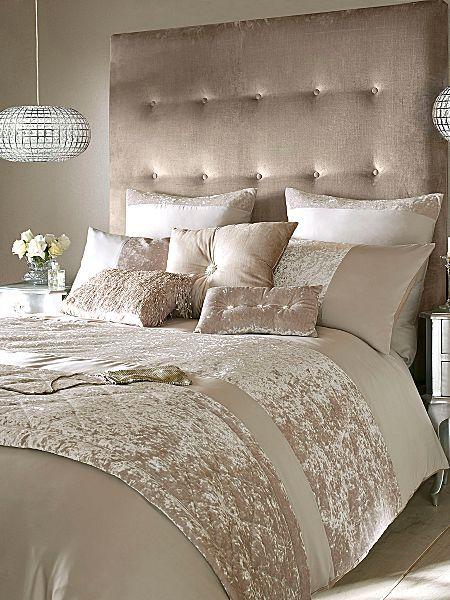 Crushed Velvet Bedding Bedroom Champagne Bedroom