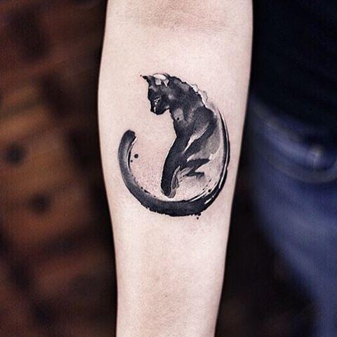 Black cat tattoo designs - cat tattoos ideas. See more at: http://factoflife.net/animals/small-simple-black-egyptian-cheshire-cat-tattoo-designs.html