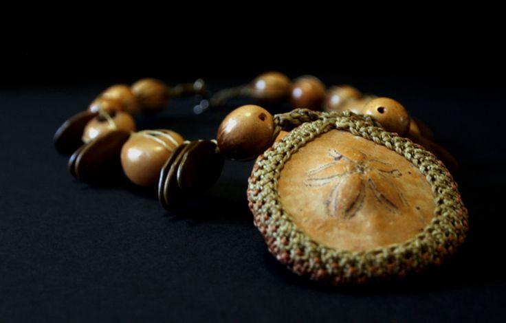 Black Pacha ,jungle-sea neck piece. www.stanleystreetgallery.com.au