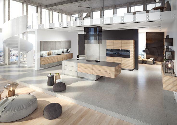 Moderne Architektur   Super Heller Beton Kombiniert Mit Einer Extra Dicken,  Genuteten Eichenfront. Die