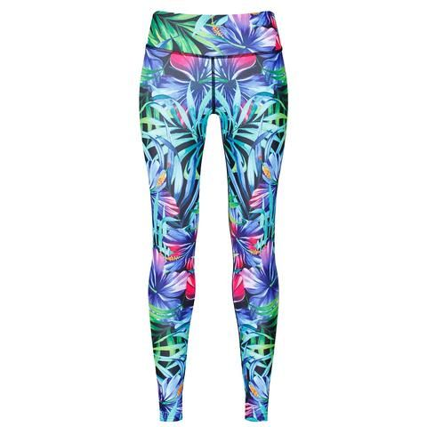 Tikiboo Tropical Flowers Leggings #Activewear #Gymwear #FitnessLeggings #Leggings #Tikiboo #Running #Yoga