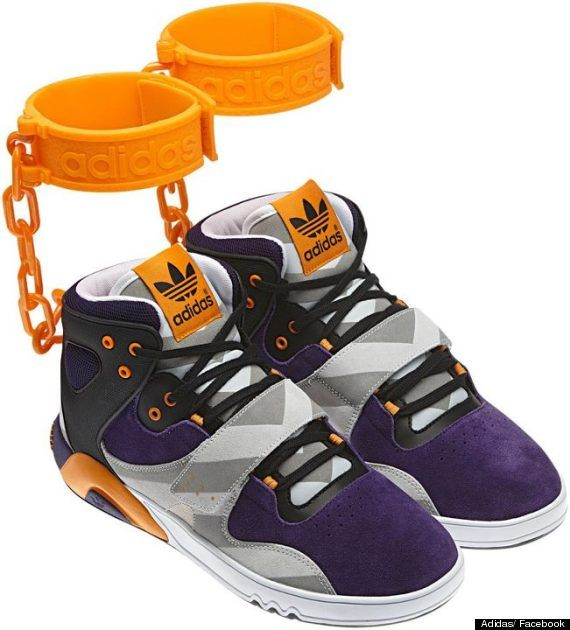 check out c9055 b8cac Adidas JS Roundhouse Mids Slave Shackle Trainers Cause Race Row (PICTURE)