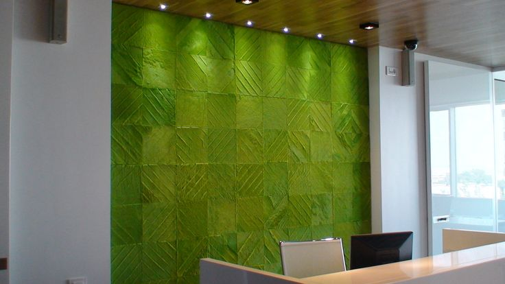 """office with a light green rug """" sevron square"""" we custom in any size real cowhide , pony skin rug"""