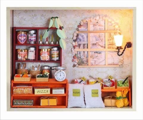 Dollhouse Miniature KIT With Light Grocery Store Grocer Model Eourpe Style   eBay