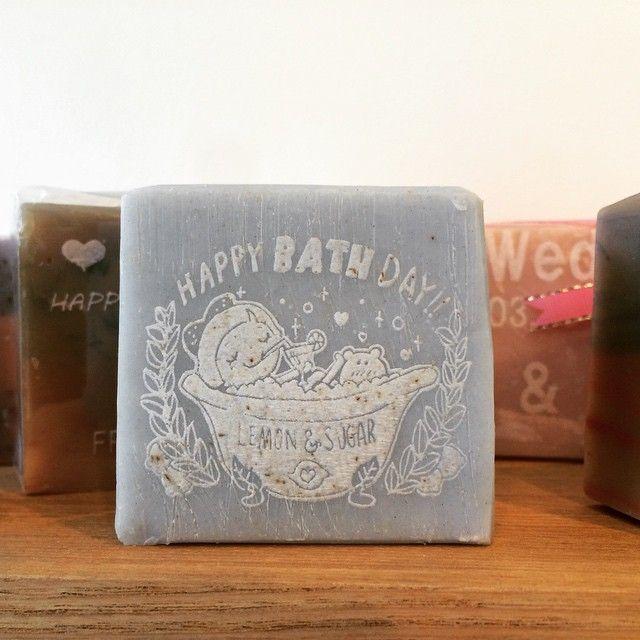 HAPPY BATH DAY!! マリアナオーシャンの名入れ石鹸♪|レモン&シュガー