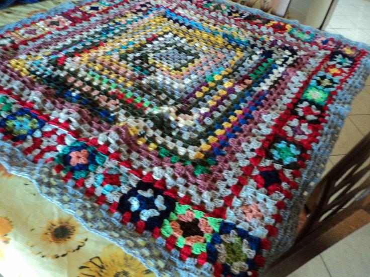 altro plaid fatto con lana riciclata Plaid